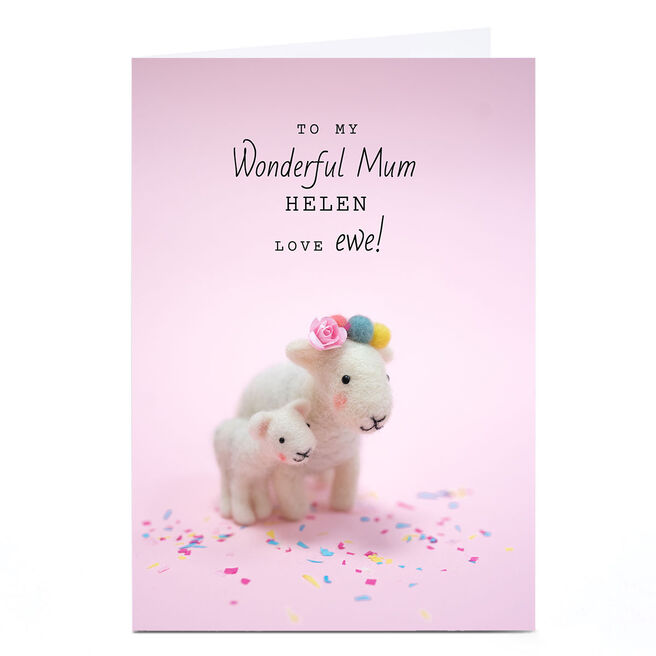 Personalised Lemon and Sugar Card - Love Ewe Mum