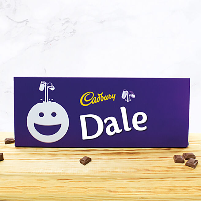 Personalised 850g Cadbury Dairy Milk Bar - Smiley