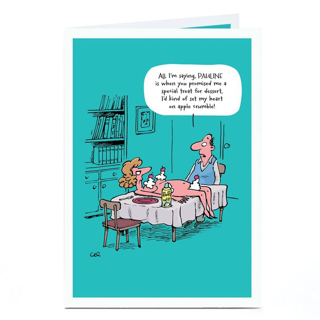 Personalised Card - Treat For Dessert Cartoon