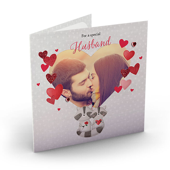 Photo Upload Card - Special Husband Heart