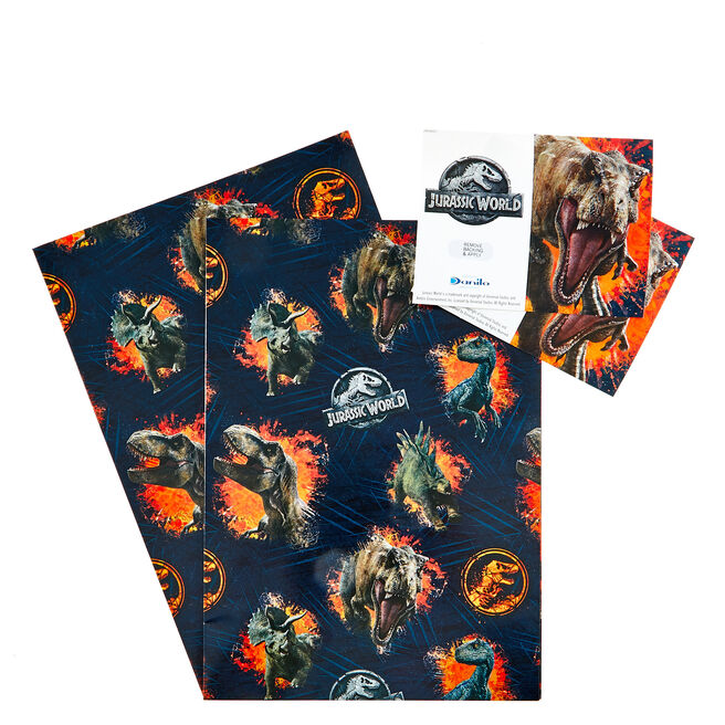 Jurassic World Wrapping Paper & Gift Tags - Pack Of 2