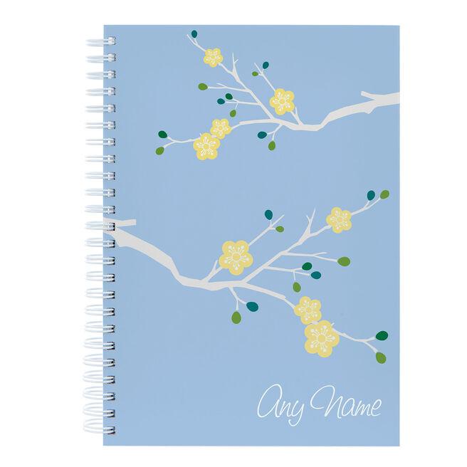 Personalised Orient Flowers Notebook