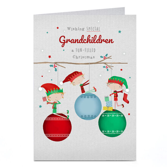 Personalised Christmas Card - Fun Filled Christmas