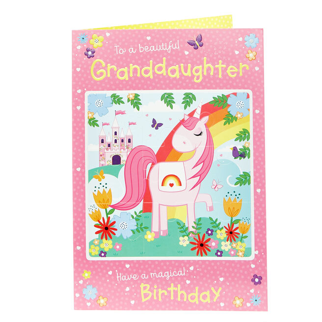 Jigsaw Birthday Card - Beautiful Granddaughter