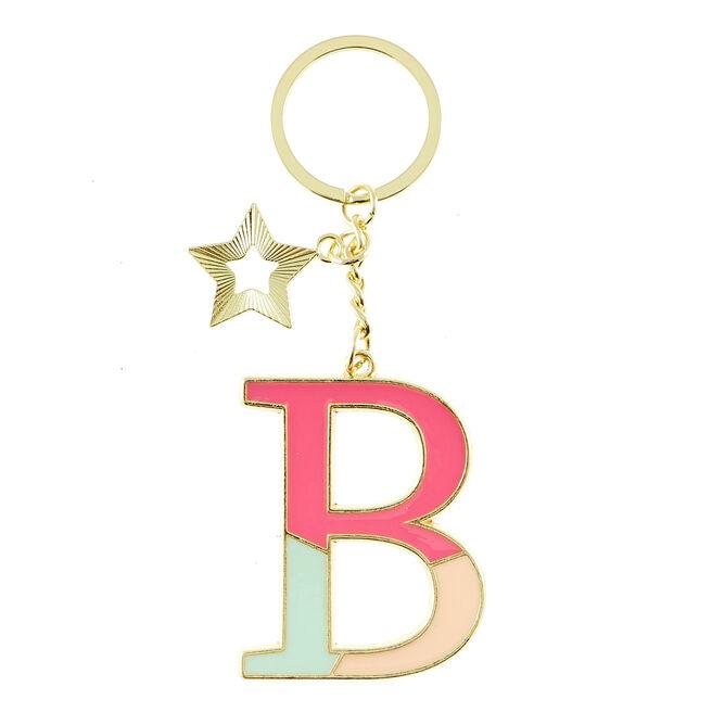 Letter B Alphabet Keyring