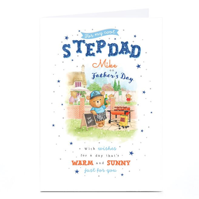 Personalised Father's Day Card - Cool Stepdad