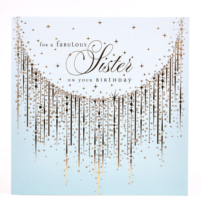 Exquisite Collection Birthday Card - Fabulous Sister