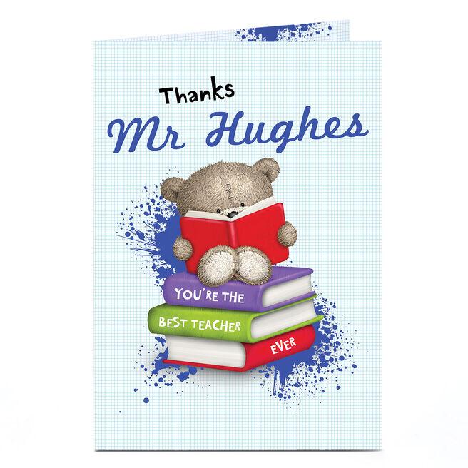 Hugs Personalised Card - Best Teacher Books