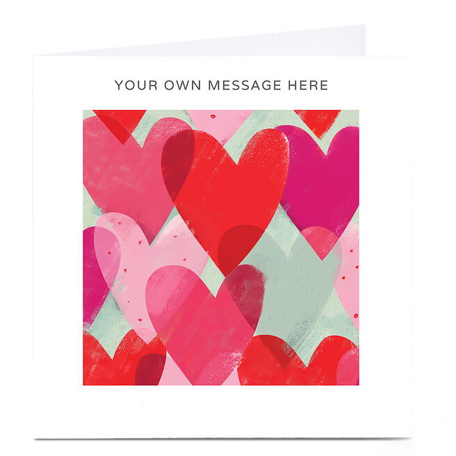 Personalised Card - Hearts