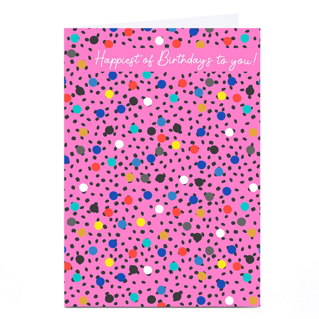 Personalised Rachel Griffin Birthday Card - Polka Dots