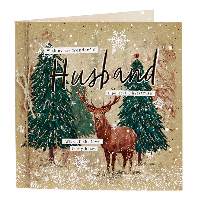 Boutique Collection Christmas Card - Wonderful Husband