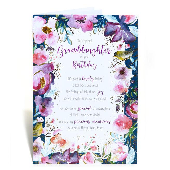Birthday Card - Granddaughter, Traditional