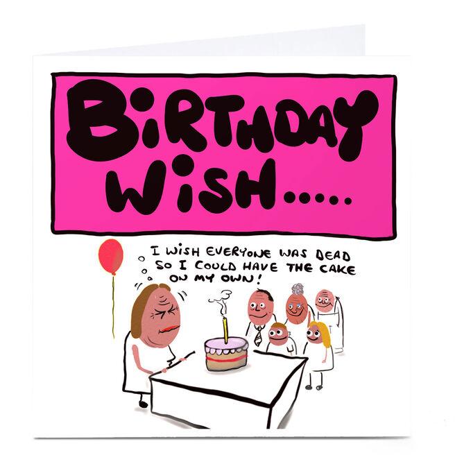 Personalised Do Something David Birthday Card - I Wish...