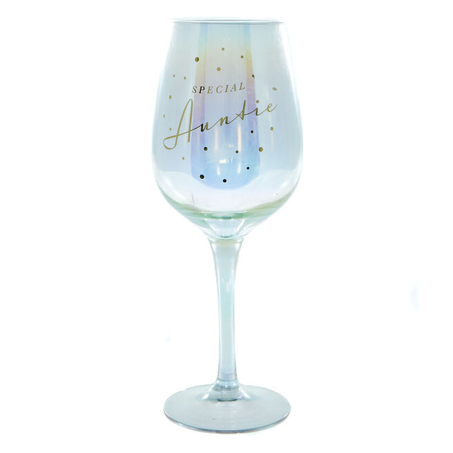 Special Auntie Wine Glass