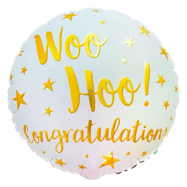 Woo Hoo! Congratulations 18-Inch Foil Helium Balloon