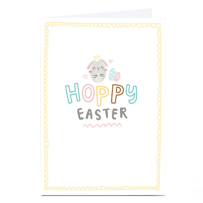 Personalised Blue Kiwi Easter Card - Hoppy Easter