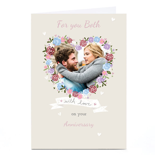 Photo Kerry Spurling Anniversary Card - Flower Heart