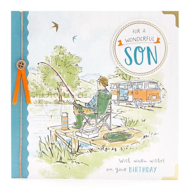 VIP Collection Birthday Card - Son Fishing Trip