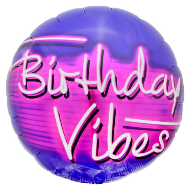 Birthday Vibes 31-Inch Foil Helium Balloon