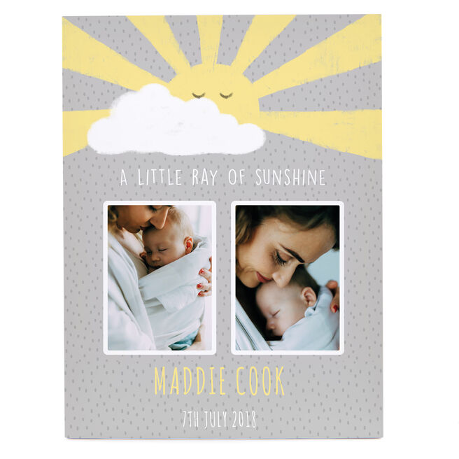 Personalised Canvas - 16x12 (Portrait) - Little Ray Of Sunshine