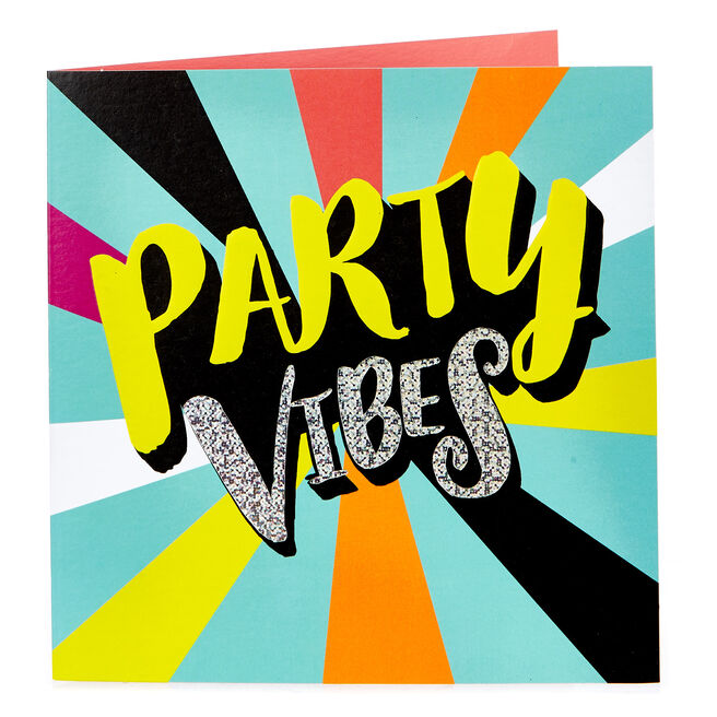 Blank Card - Party Vibes