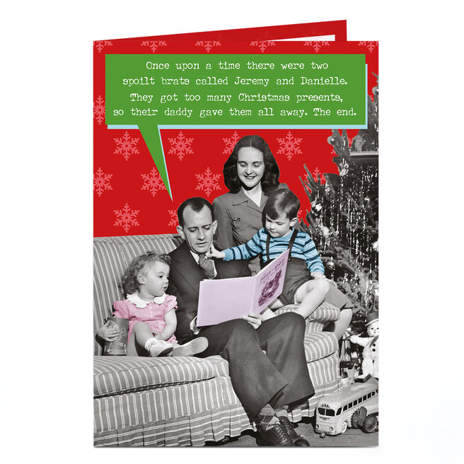 Personalised Christmas Card - Spoilt Brats Story Time