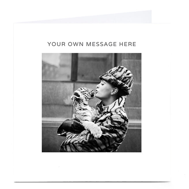 Personalised Card - Black And White Tiger Kisses