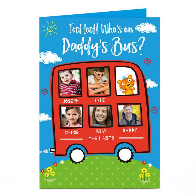 Photo Card - Daddy's Bus