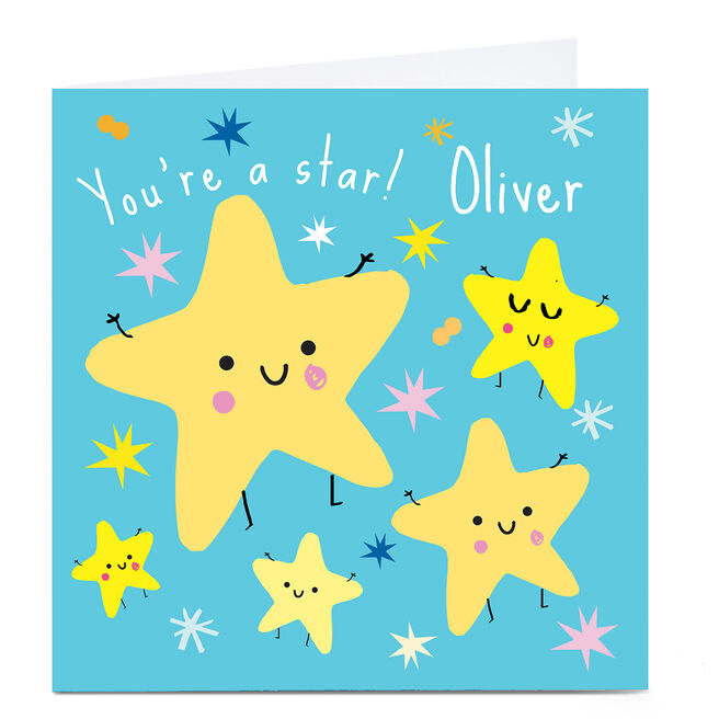 Personalised Squirrel Bandit Any Occasion Card - You're A Star!