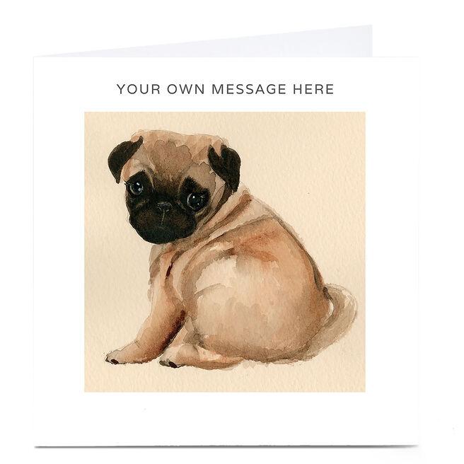 Personalised Card - Pug Painting