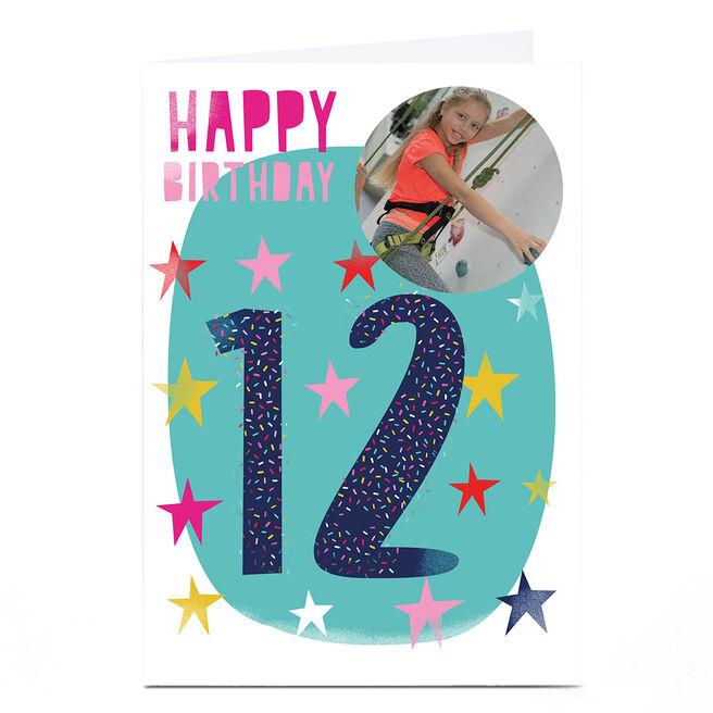 Photo Hello Munki Birthday Card - Age 12