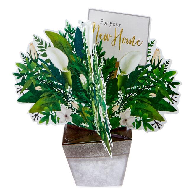 Boutique Collection 3D New Home Card - Flower Bouquet