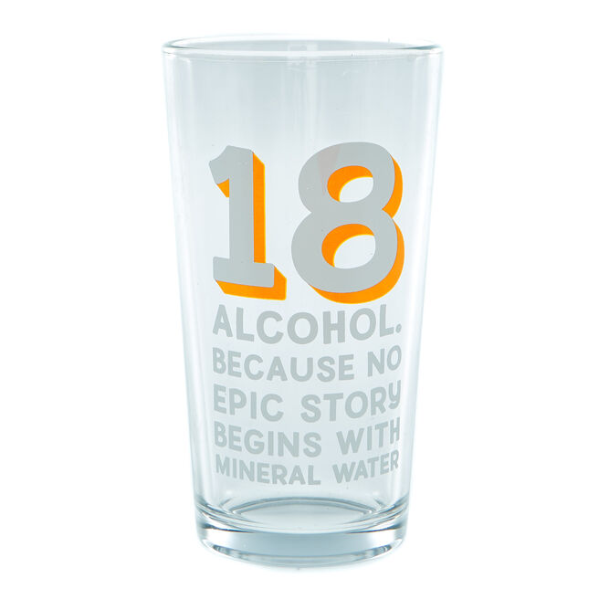 18th Birthday Pint Glass - Epic Story
