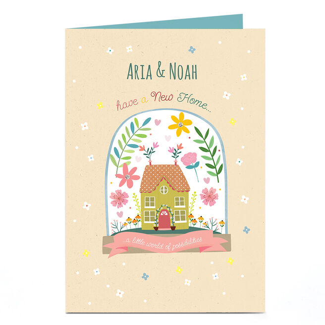 Personalised New Home Card - World Of Possibilities