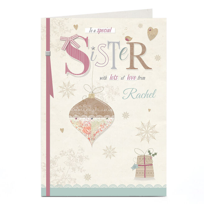 Personalised Christmas Card - Special Sister