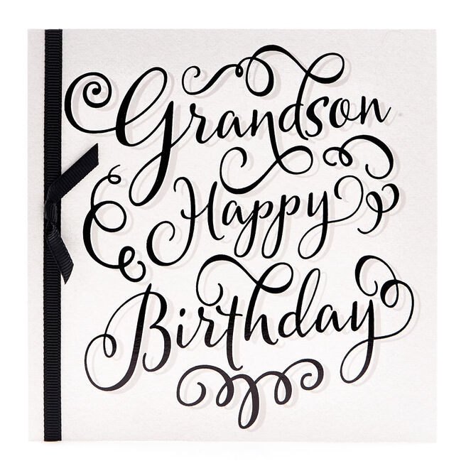 VIP Collection Birthday Card - Grandson Happy Birthday