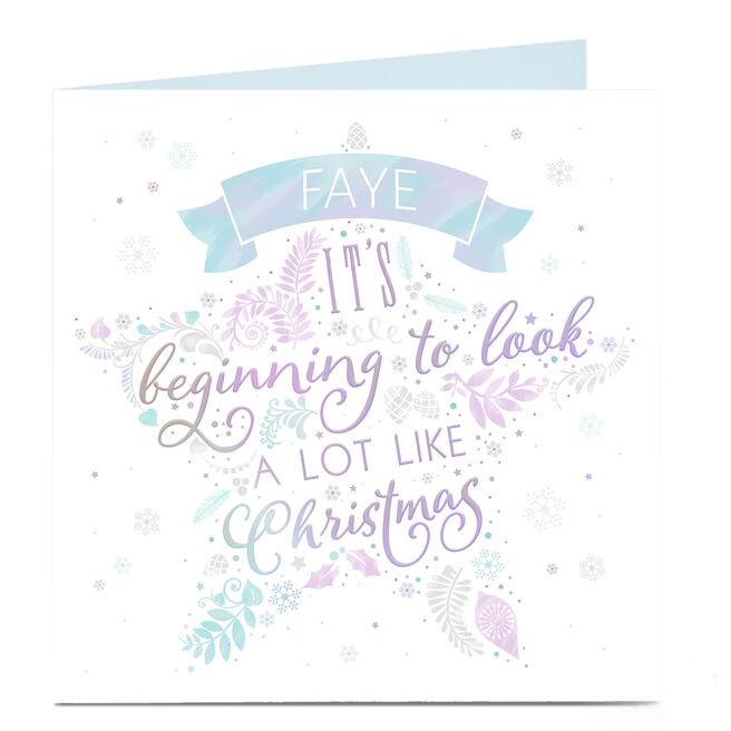 Personalised Christmas Card - A Lot Like Christmas