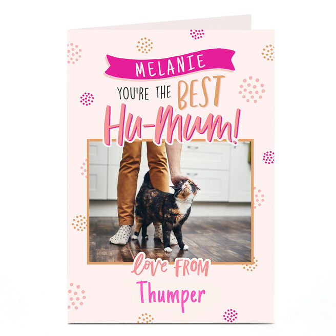 Photo Mother's Day Card - The Best Hu-Mum!