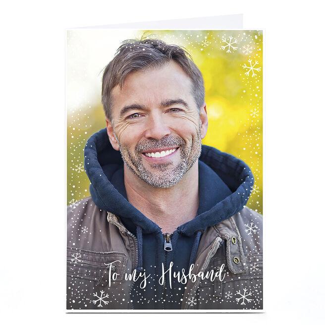Photo Christmas Card - To My Husband
