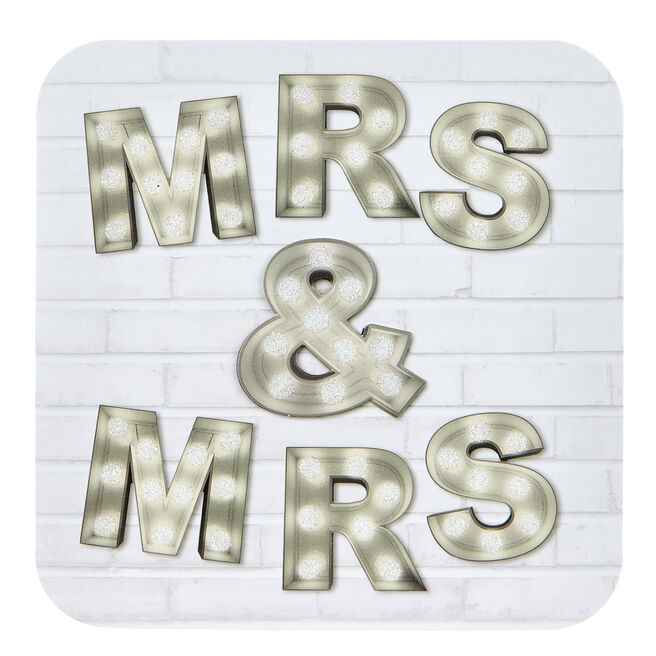 Boutique Collection Wedding Card - Mrs & Mrs