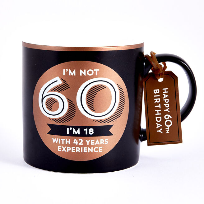 60th Birthday Mug - 18 With 42 Years Experience