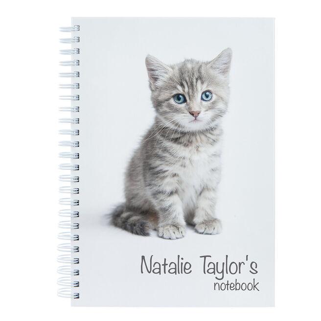 Personalised Cute Kitten Notebook