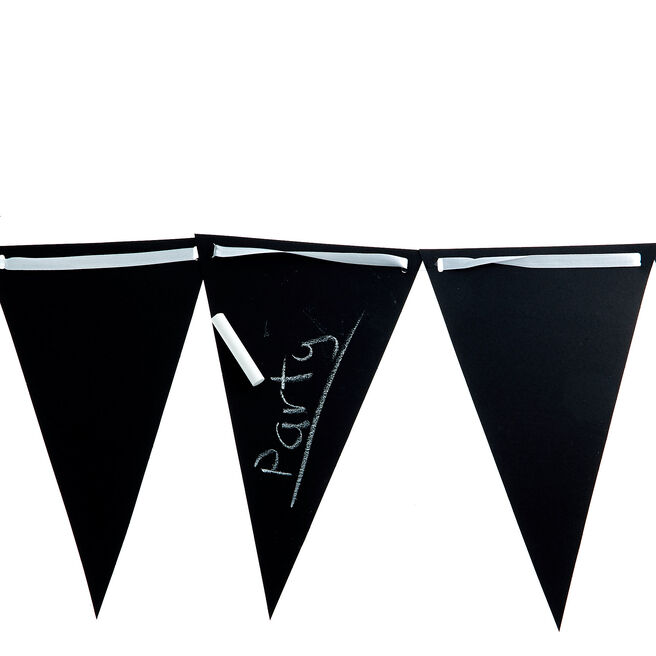 Black Chalkboard Flag Banner With Chalk
