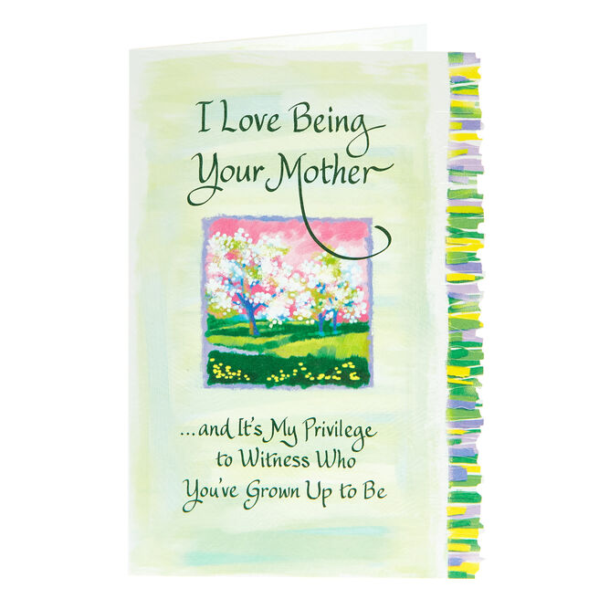 Blue Mountain Arts Card - I Love Being Your Mother