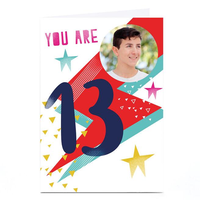 Photo Hello Munki Birthday Card - Age 13