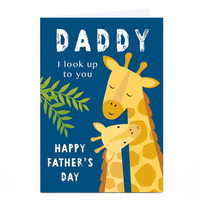 Personalised Klara Hawkins Father's Day Card - Daddy, Look Up To You