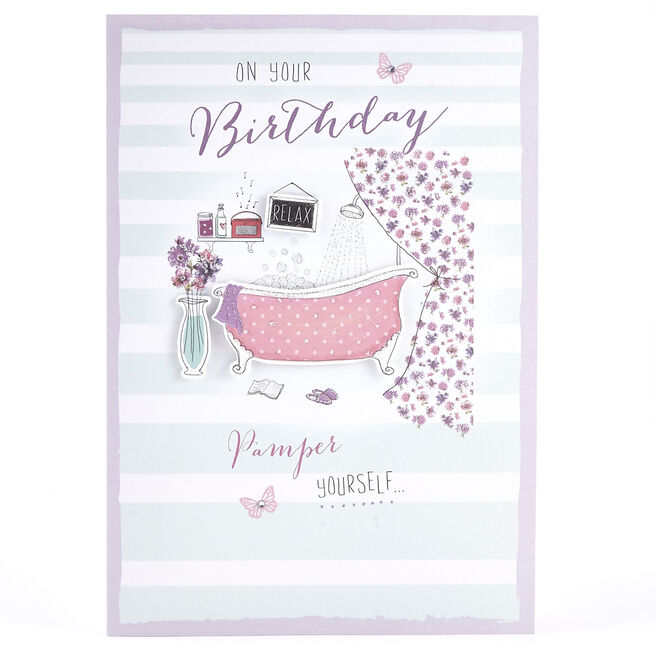 Birthday Card - Pamper Yourself