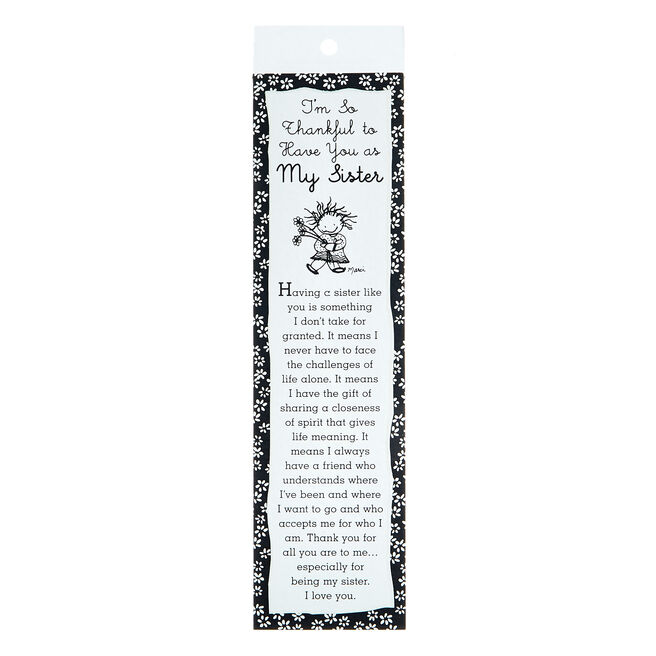 Blue Mountain Arts Bookmark - My Sister