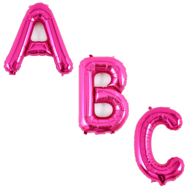 Pink Air-Inflated Letter Balloons - Deflated