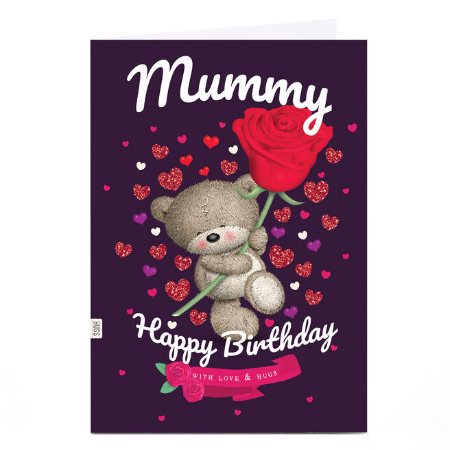 Personalised Birthday Card - Hugs with Rose, Mummy